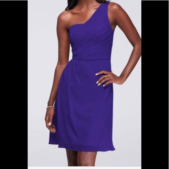 c59c66d4f4c David s Bridal Dresses   Skirts - Short Crinkle Chiffon One-Shoulder Dress
